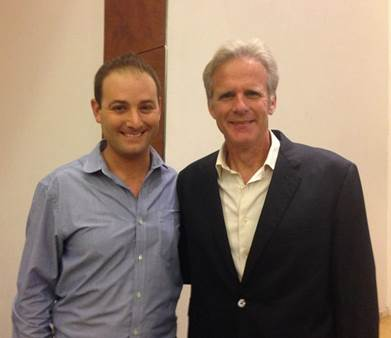 StandWithUs Israel Director Michael Dickson with Ambassador Oren
